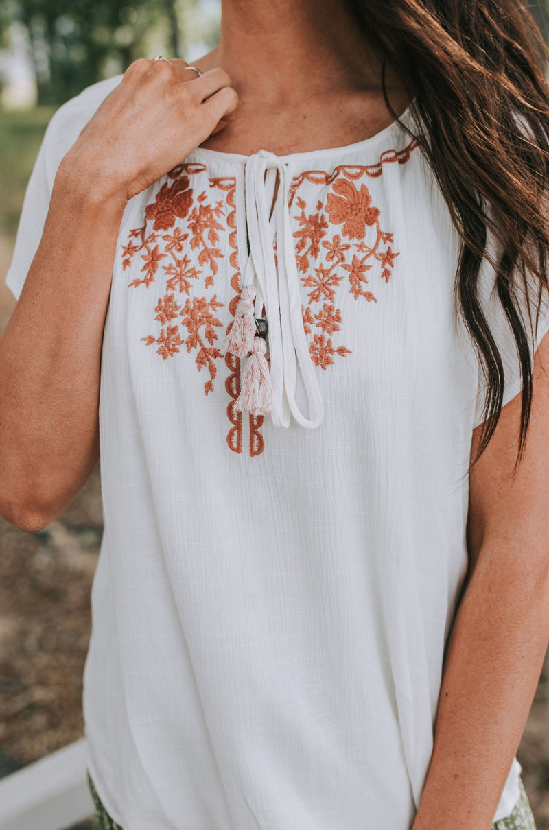 Delaney Embroidered Top