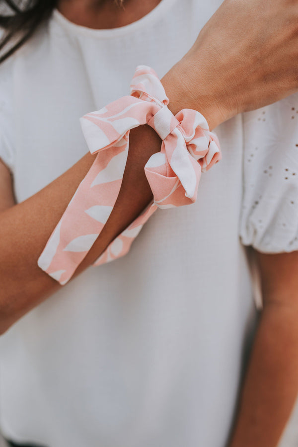 Pink Jungle Bow Scrunchie