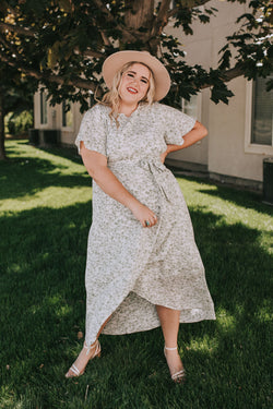 PLUS SIZE - Flower Me Dress - 2 Colors