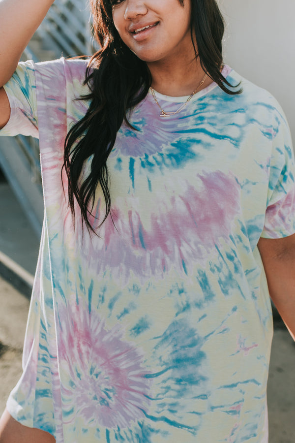 PLUS SIZE - Tie-Dye For Dress