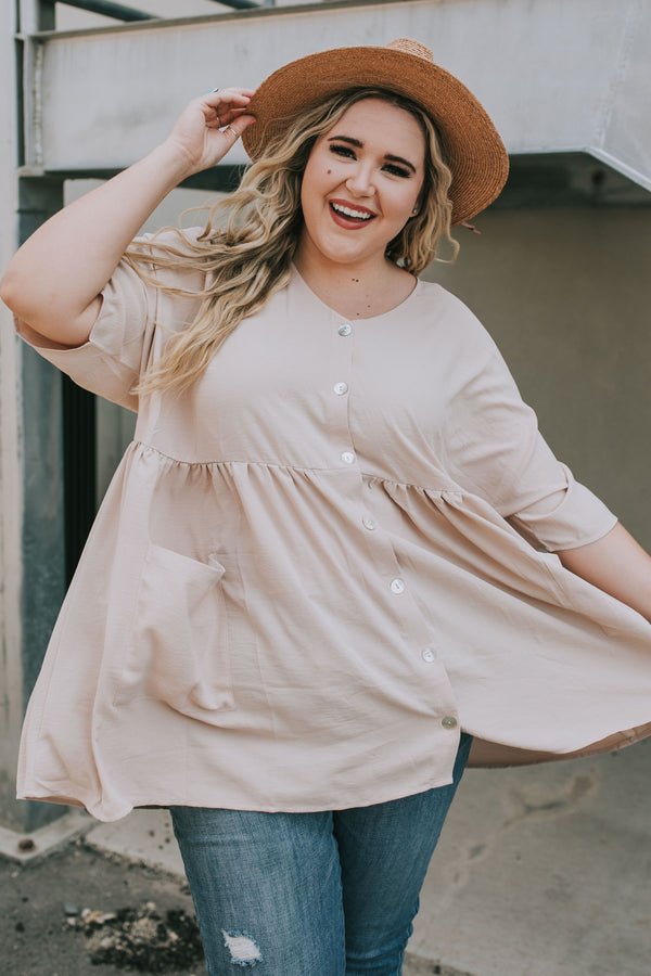 PLUS SIZE - Lori Button Up Top - 2 Colors