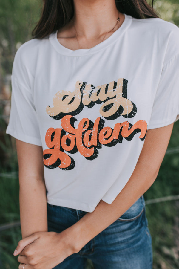 Stay Golden Crop Top