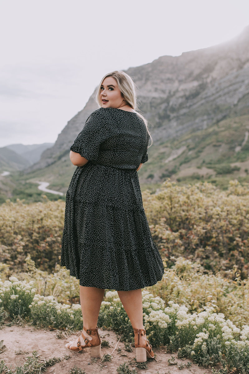 PLUS SIZE - Lucas Dotted Dress - 2 Colors