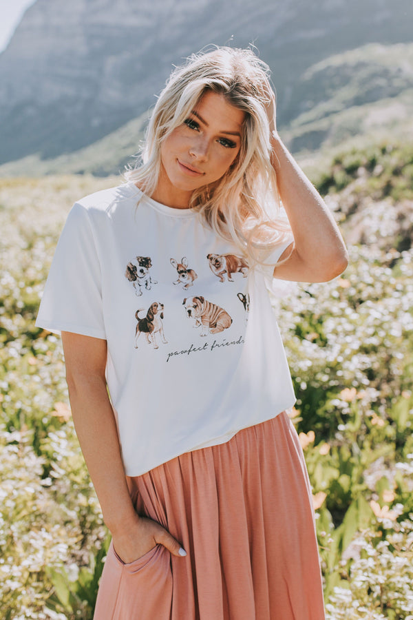 Pawfect Friends Tee