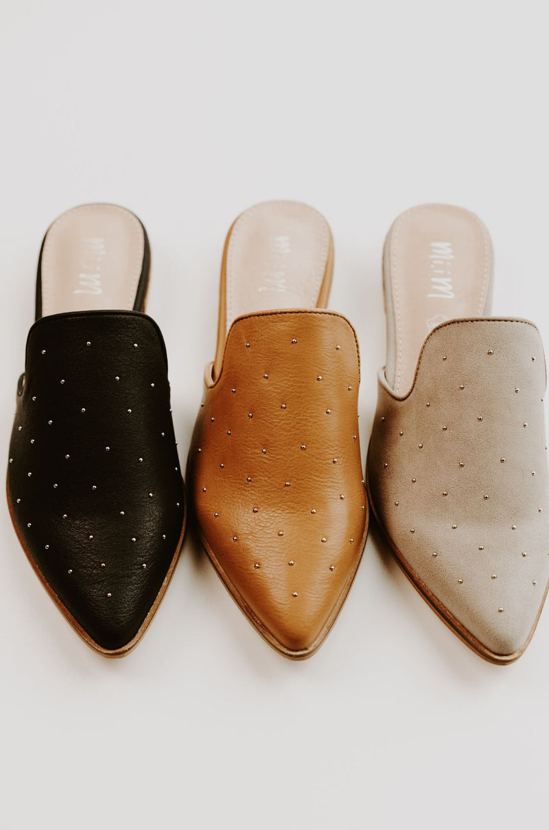 Gaze Studded Mules - 3 Colors