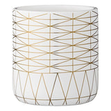 Home: Gold Lines Flower Pot