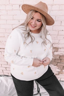 PLUS SIZE - Glowing Autumn Sweater