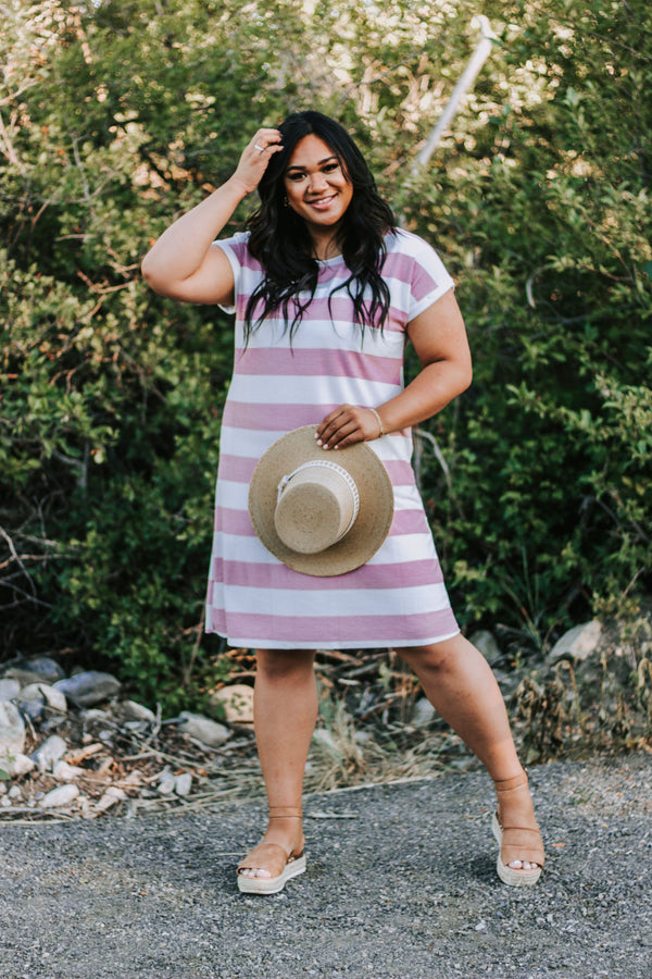 PLUS SIZE - Wilson Striped Dress - 2 Colors