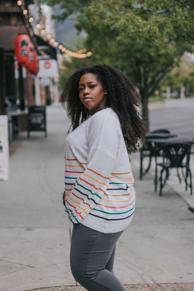 PLUS SIZE - Check Me Out Sweater