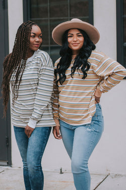 Dakota Striped Top - 2 Colors
