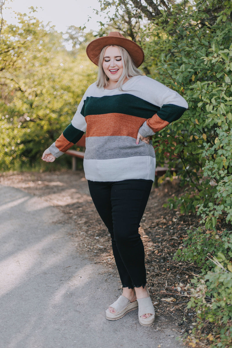 PLUS SIZE - Not A Worry Sweater