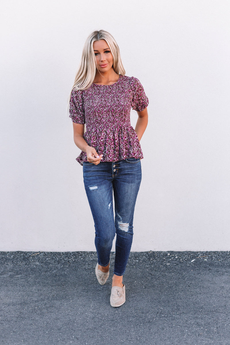 Autumn Floral Top - 2 Colors