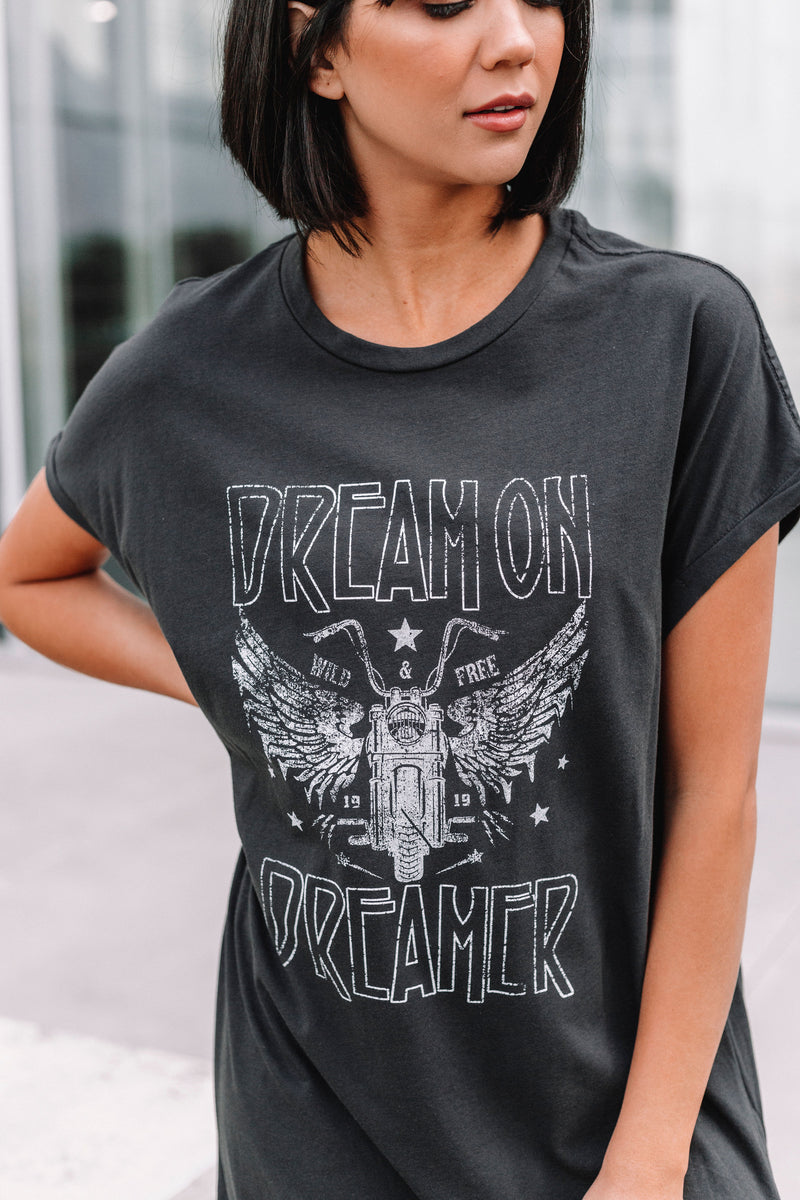 Dream On Dreamer T-Shirt Dress