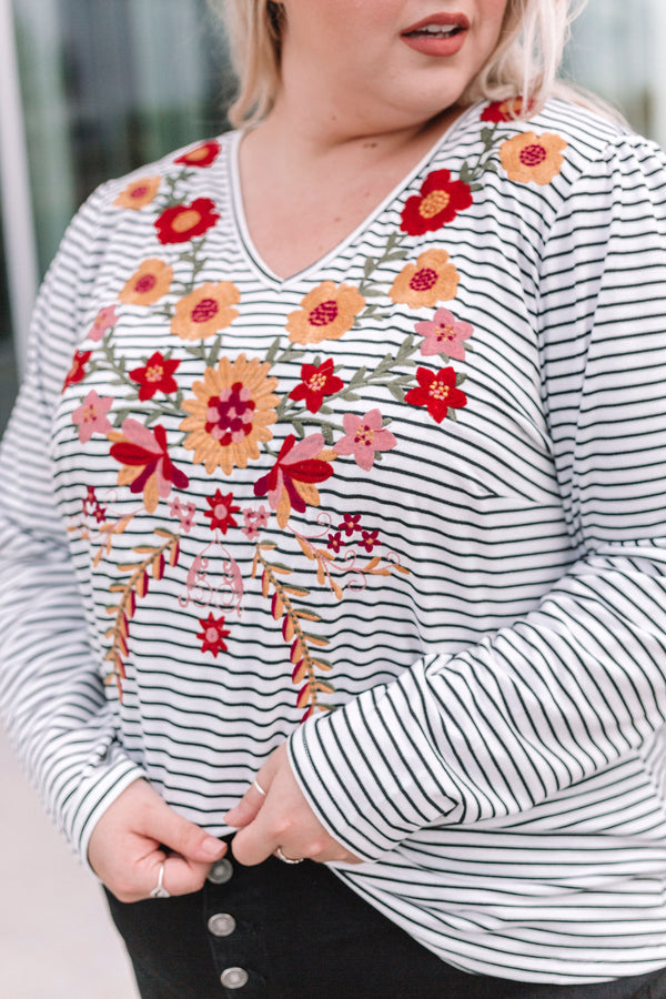PLUS SIZE - Carol Embroidered Top