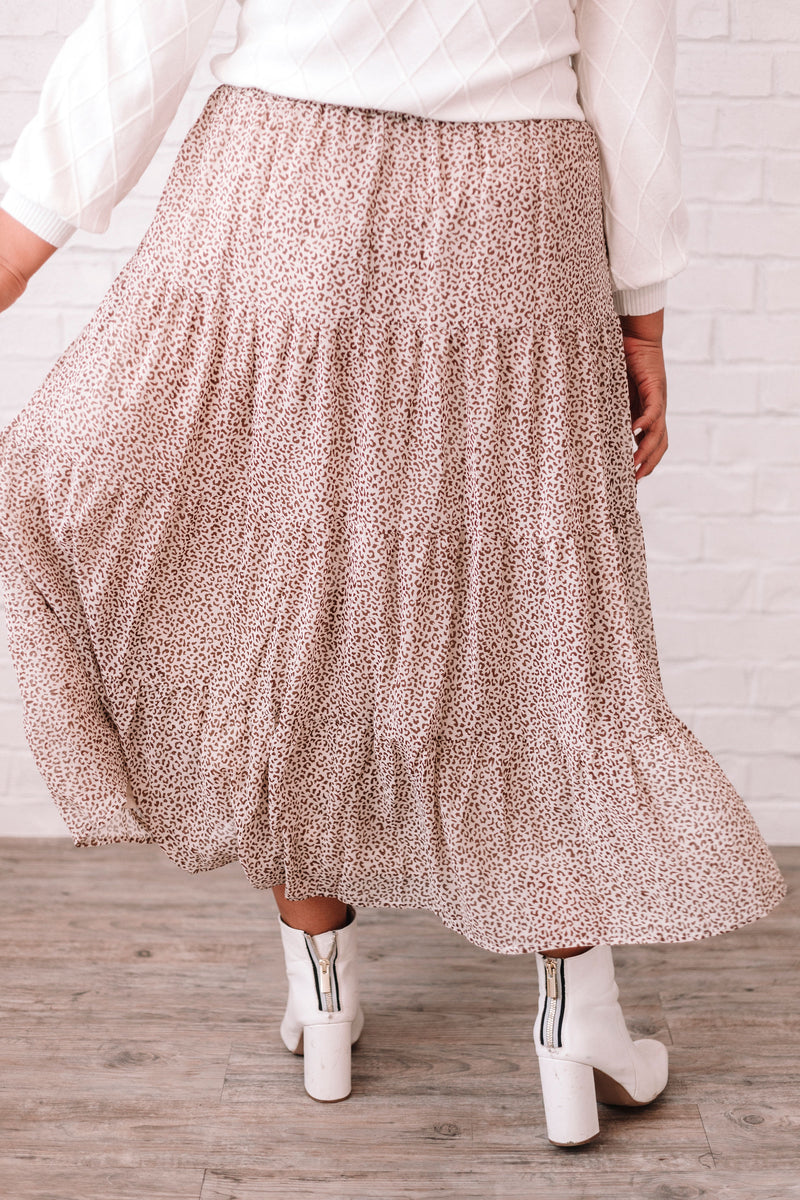PLUS SIZE - Toby Spotted Skirt
