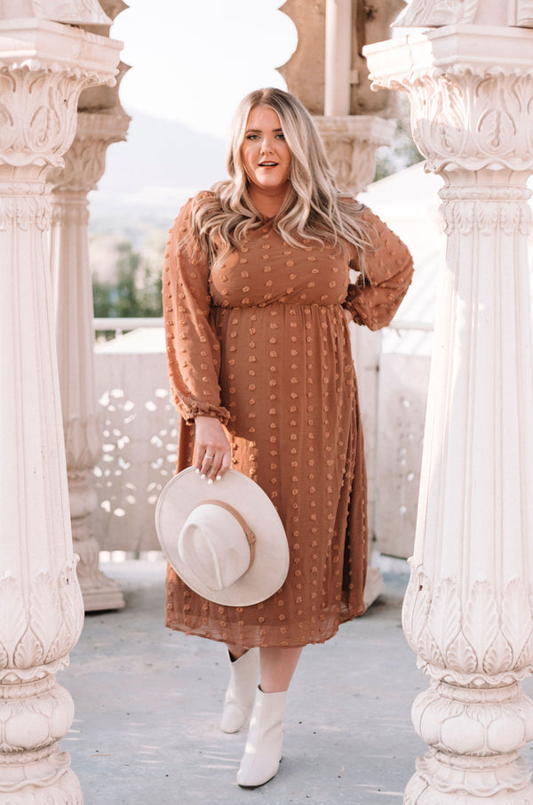 PLUS SIZE - Landon Dot Dress