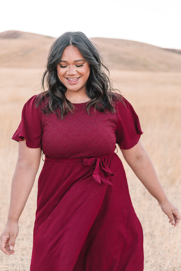 PLUS SIZE - Promise of Spring Dress
