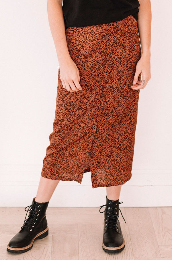 Autumn Leopard Skirt