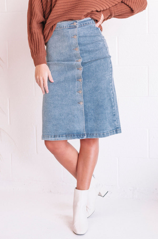 Cullen Denim Skirt