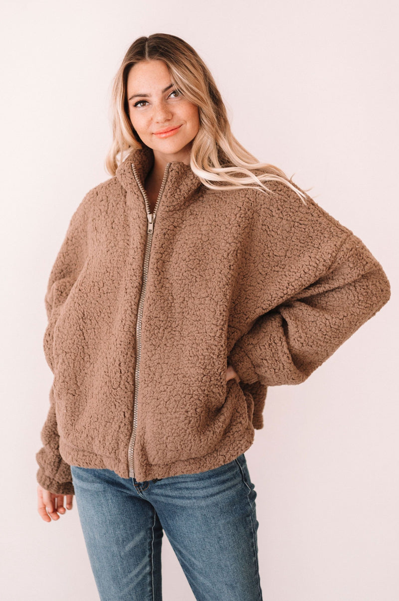 Krista Sherpa Jacket - 2 Colors
