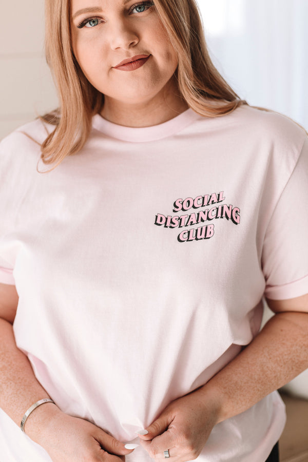 PLUS SIZE - Social Distancing Club Tee