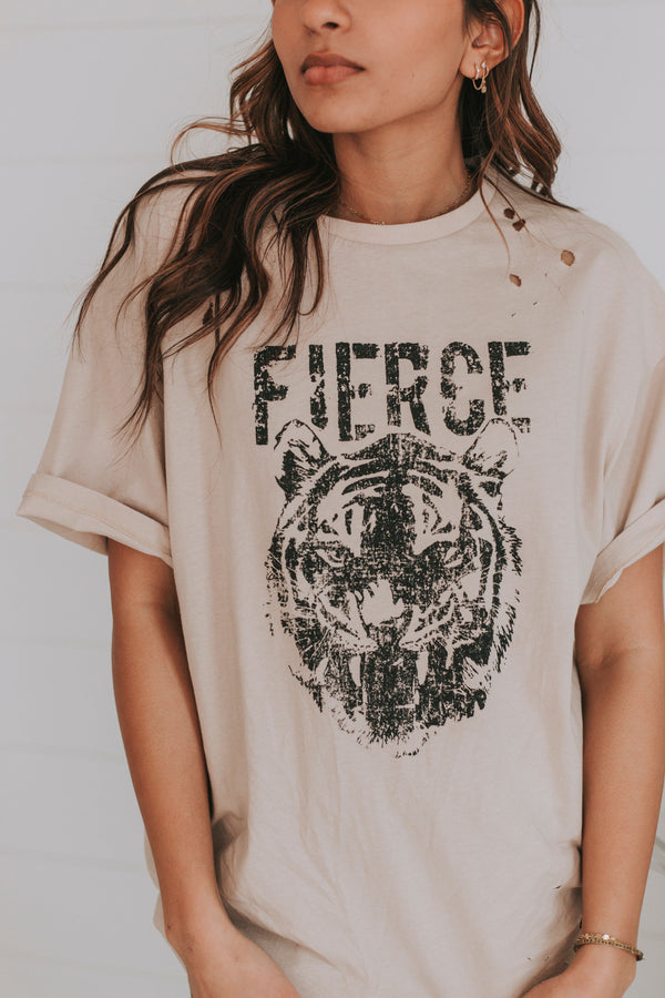 Fierce Distressed Graphic Tee
