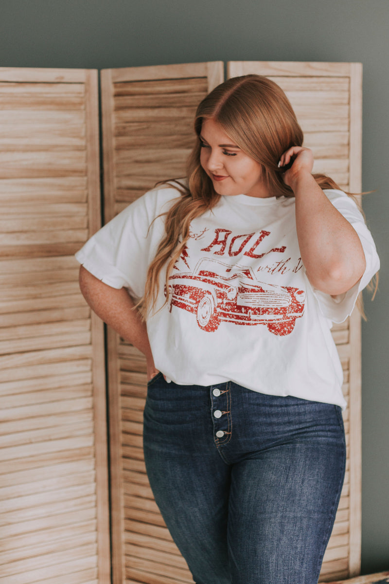 PLUS SIZE - Just Roll With It Tee
