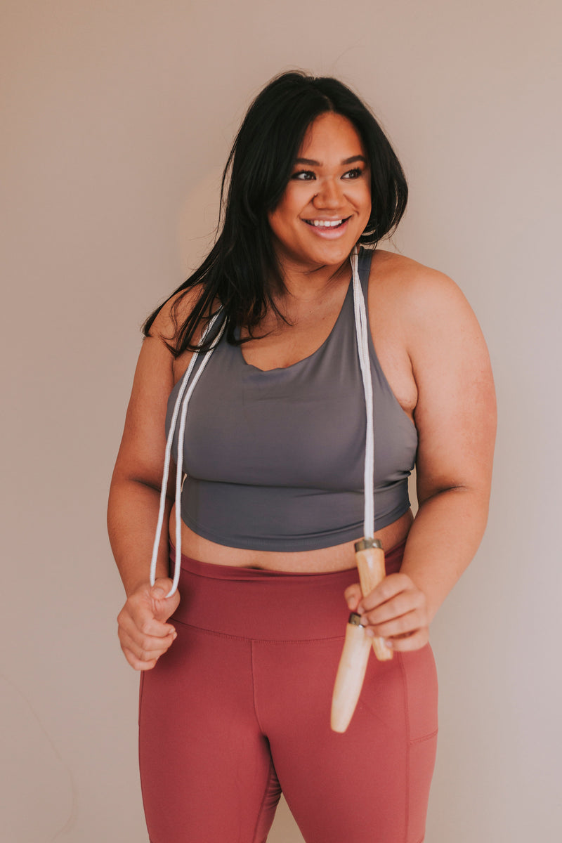 PLUS SIZE - Head In The Game Sports Bra
