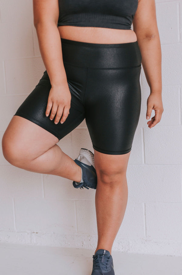 PLUS SIZE - Strong Enough Biker Shorts