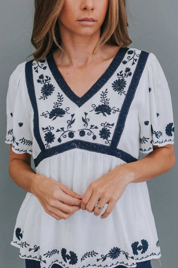 Cranston Embroidered Top