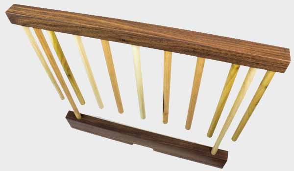 Maple and Walnut Hardwood Pasta Drying Rack