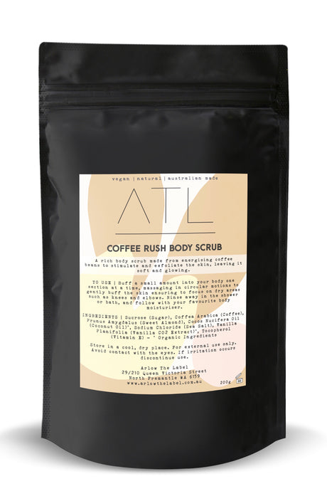 coffee rush body scrub
