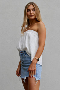 beach comber strapless top