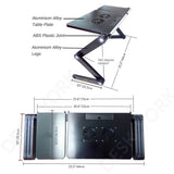Portable Adjustable Laptop Desk/Table Vented-Lightweight Ergonomic TV Bed Large Lap Tray