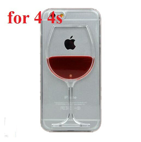 Red Wine Cup Liquid Transparent Case
