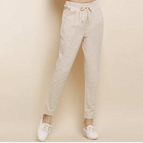 All-Match Flax Linen Pants