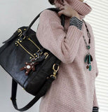 Vintage Bear Tassel Casual Bag