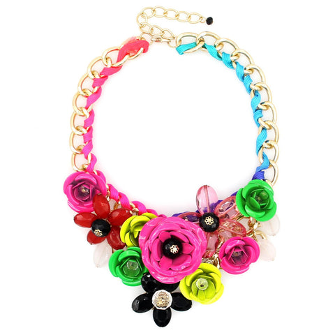 Acrylic Flowers Necklace