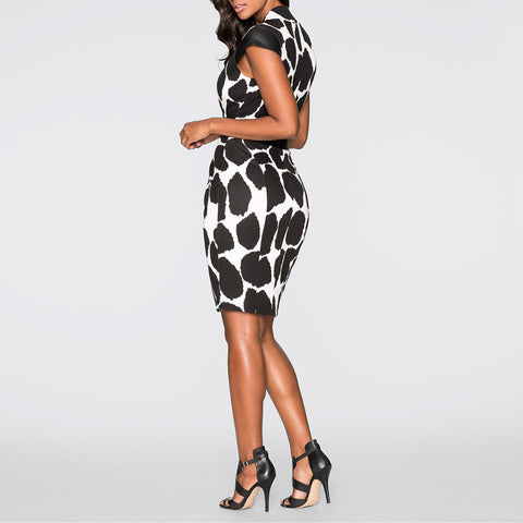 Animal Print Dress with PU Belt