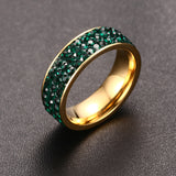 18K Gold Plated Crystal Ring
