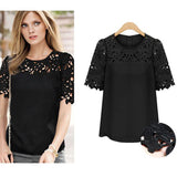 Plus Size Lace Ladies Tops