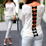 Bow Back White Shirt