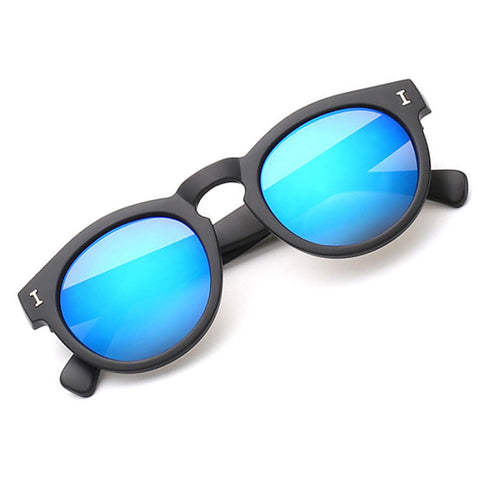 Thick Frame Round Sunglasses