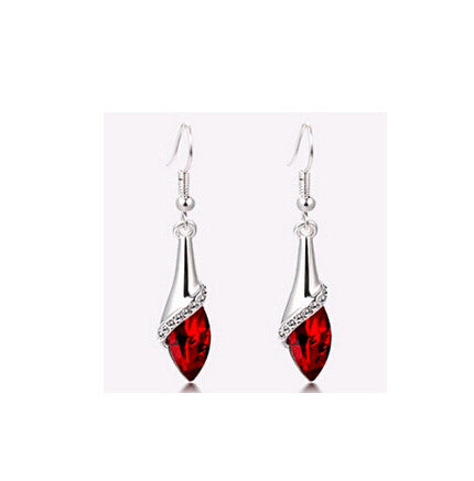 Crystal Big Drop Earrings