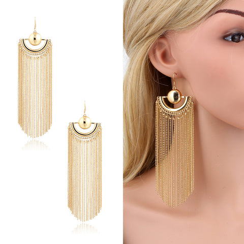 18K Gold Plated Dangle Earrings