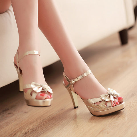 Ankle Strap Party Heels