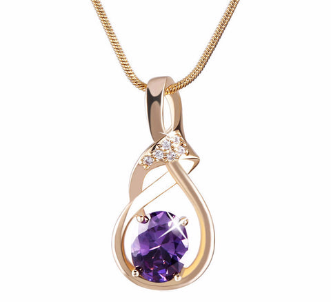 18K Gold Plated Zirconia Pendant