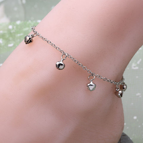 Double Hollow Rose Anklet