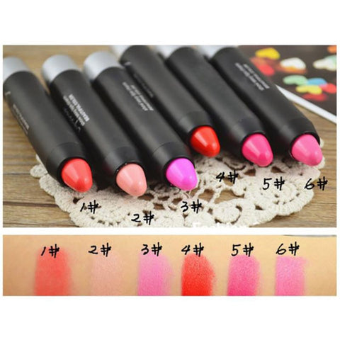 12 Colors Water Resistant Lipsticks