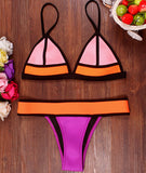 New Neon Patchwork Neoprene Swimwear